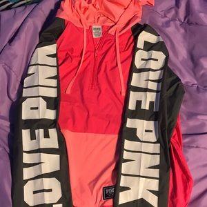 Pink Victoria secret Anorak sweater !